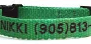 Personalized Embroidered Quick Release Snap Collars